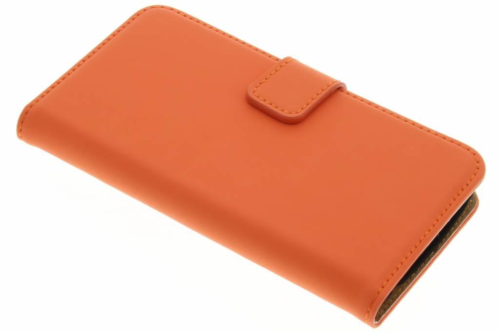 Selencia Luxe Book Case voor de LG K4 - Oranje
