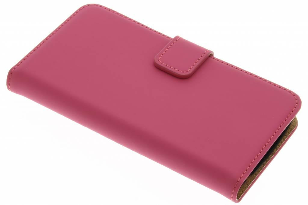 Selencia Luxe Book Case voor de LG K4 - Fuchsia