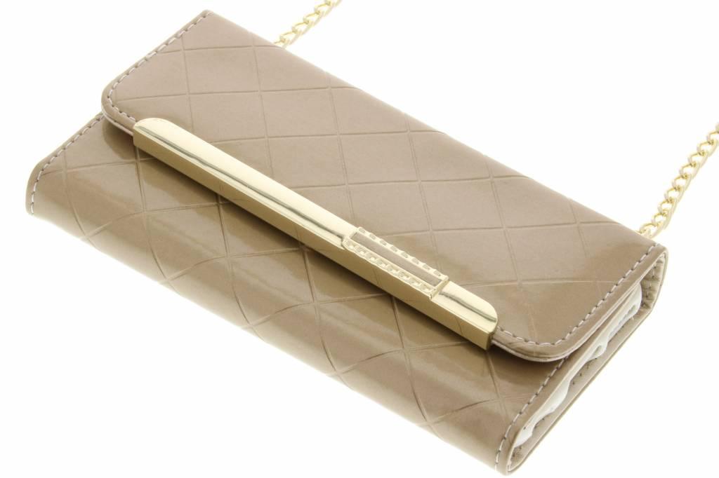 Goud glossy portemonnee hoesje voor de iPhone 6 / 6s