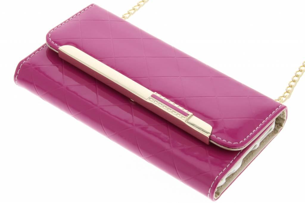 Fuchsia glossy portemonnee hoesje voor de iPhone 6 / 6s