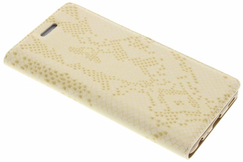 Gouden luxe slangen TPU booktype hoes voor de Huawei P9