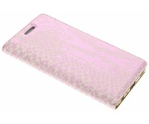 Roze luxe slangen TPU booktype hoes Huawei P9