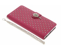 Fuchsia chique strass booktype hoes Huawei P8