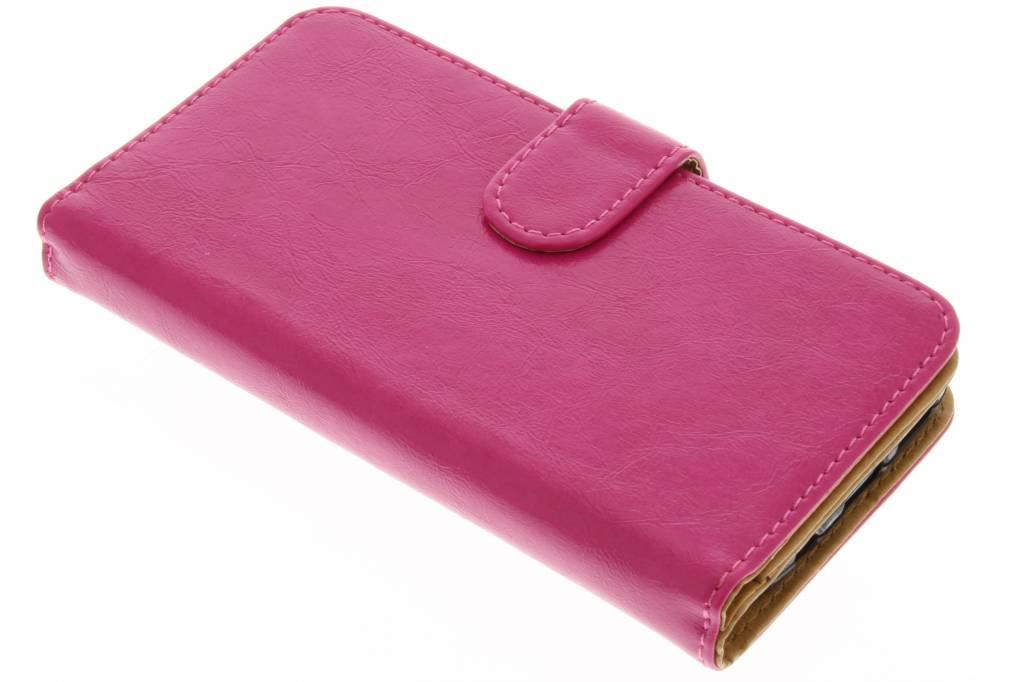 Fuchsia 14-vaks wallet case voor de Samsung Galaxy S7