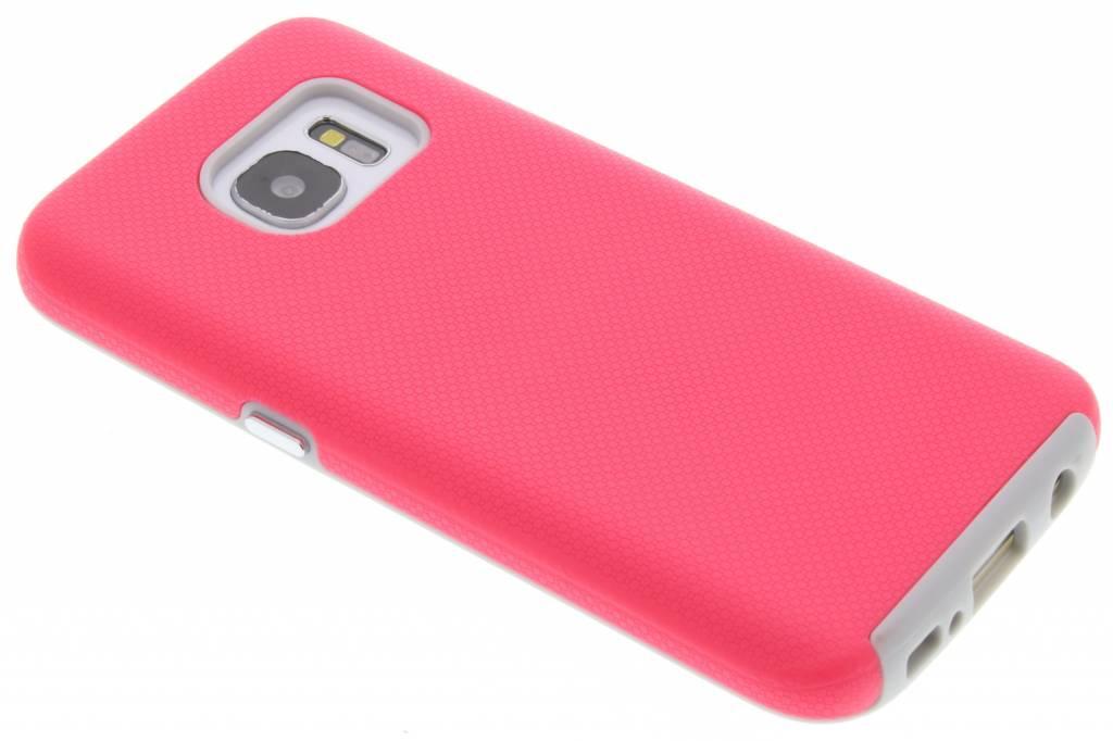 Roze rugged case voor de Samsung Galaxy S7
