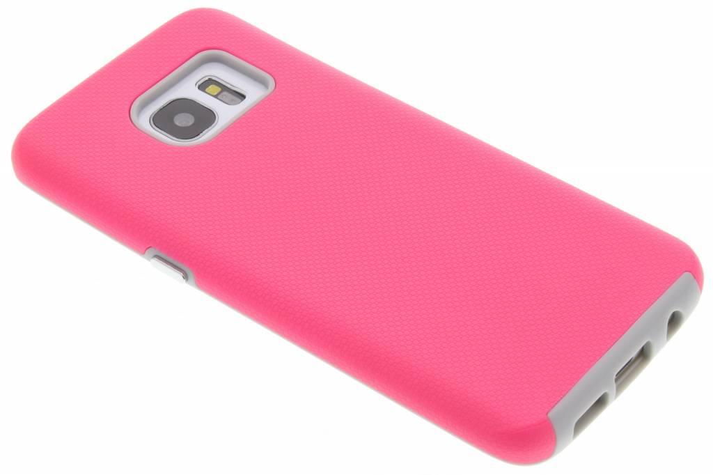Roze rugged case voor de Samsung Galaxy S7 Edge