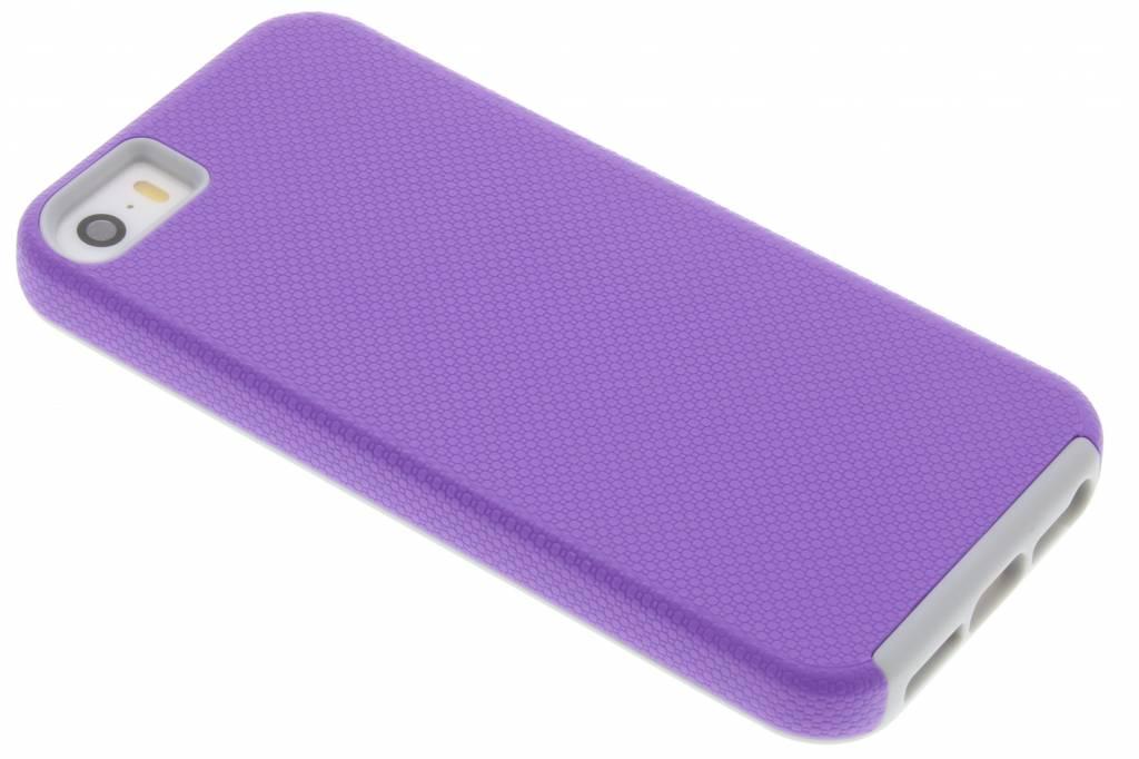 Paarse rugged case voor de iPhone 5 / 5s / SE