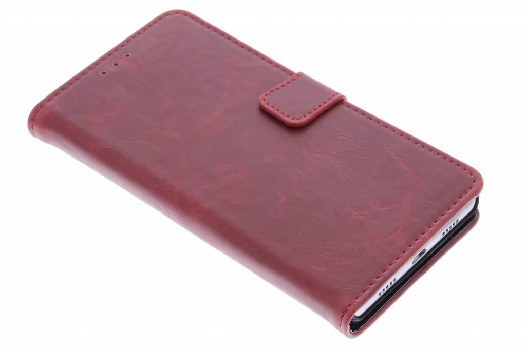 Rode luxe leder booktype voor de Huawei P9 Plus