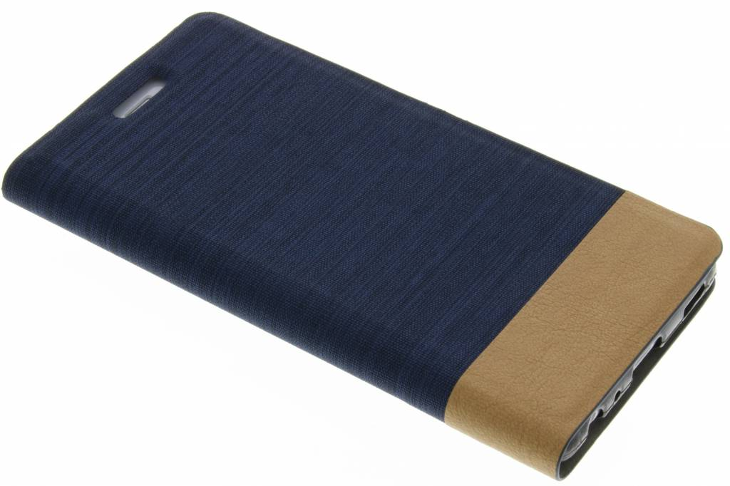 Donkerblauwe denim TPU booktype hoes voor de Huawei P9 Plus