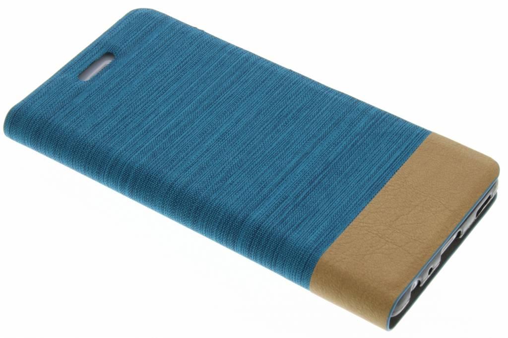 Lichtblauwe denim TPU booktype hoes voor de Huawei P9 Plus