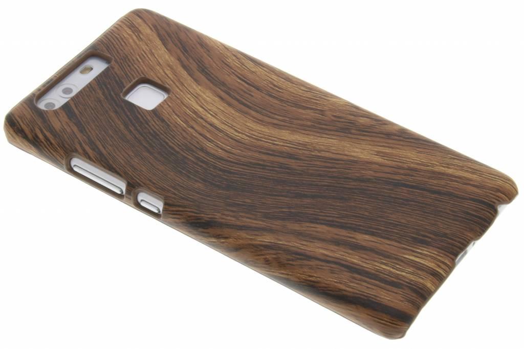 Donkerbruin hout design hardcase hoesje voor de Huawei P9