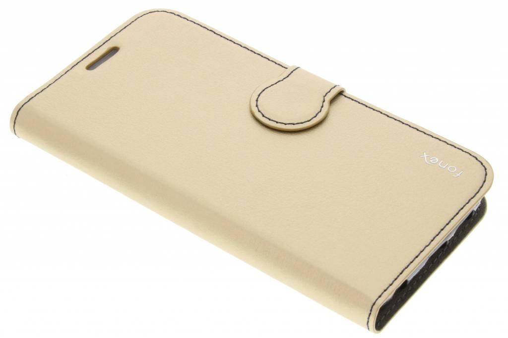 Fonex Identity Bookcase voor de Samsung Galaxy S6 Edge - Goud