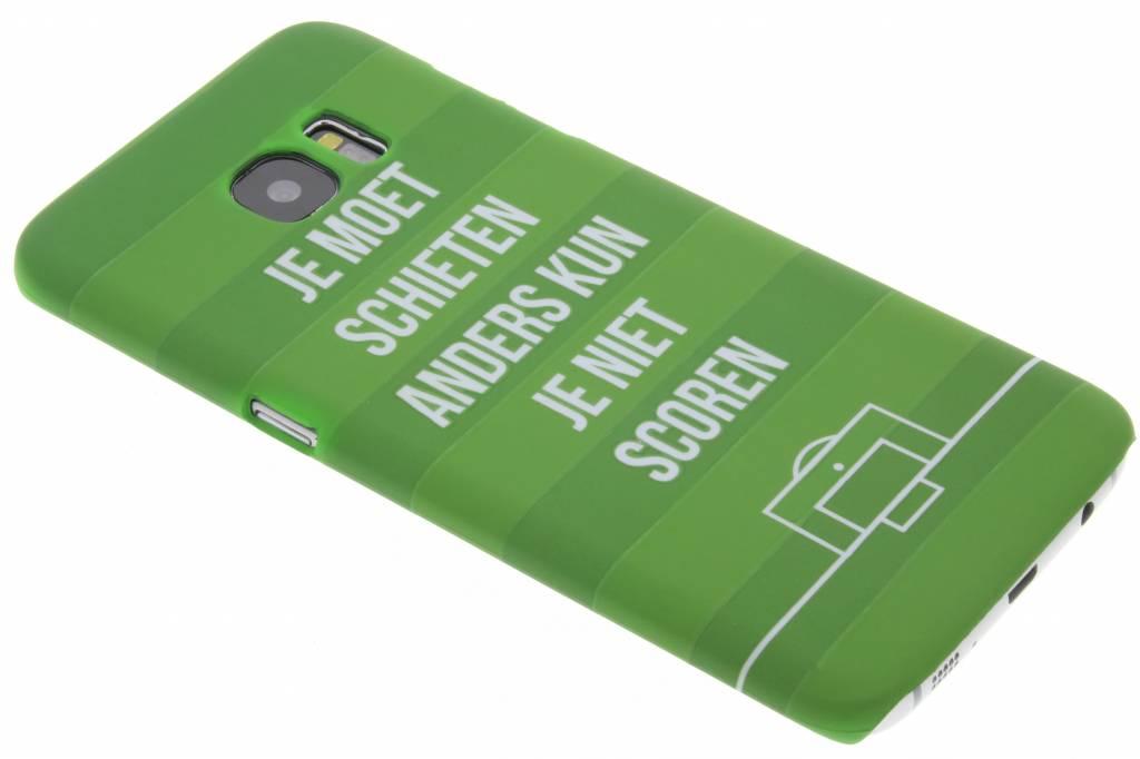 Je moet schieten hardcase hoesje voor de Samsung Galaxy S7 Edge