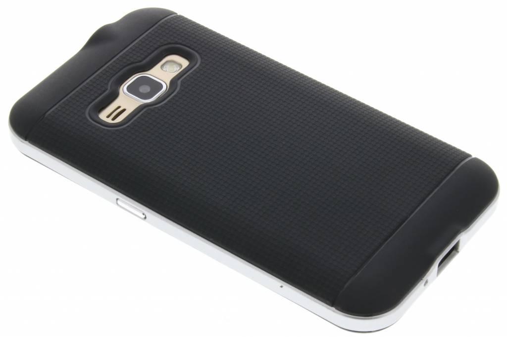 Zilveren TPU Protect case voor de Samsung Galaxy J1 (2016)