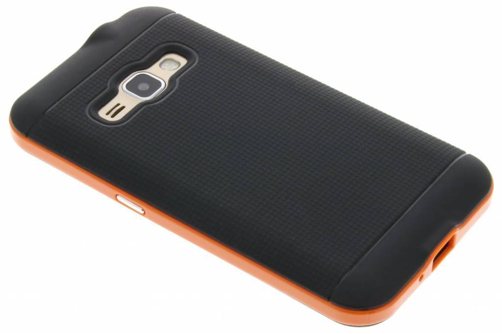 Oranje TPU Protect case voor de Samsung Galaxy J1 (2016)