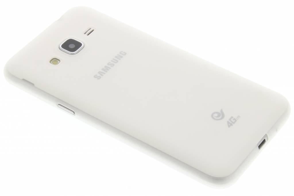 Wit Color TPU hoesje voor de Samsung Galaxy J3 / J3 (2016)