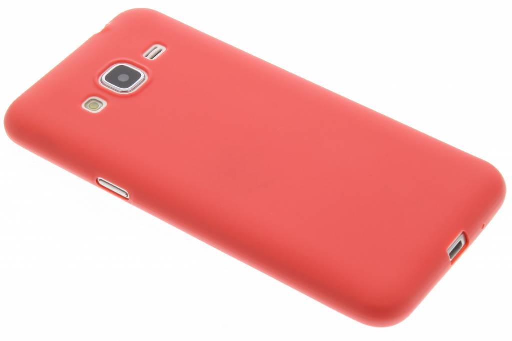 Rood Color TPU hoesje voor de Samsung Galaxy J3 / J3 (2016)