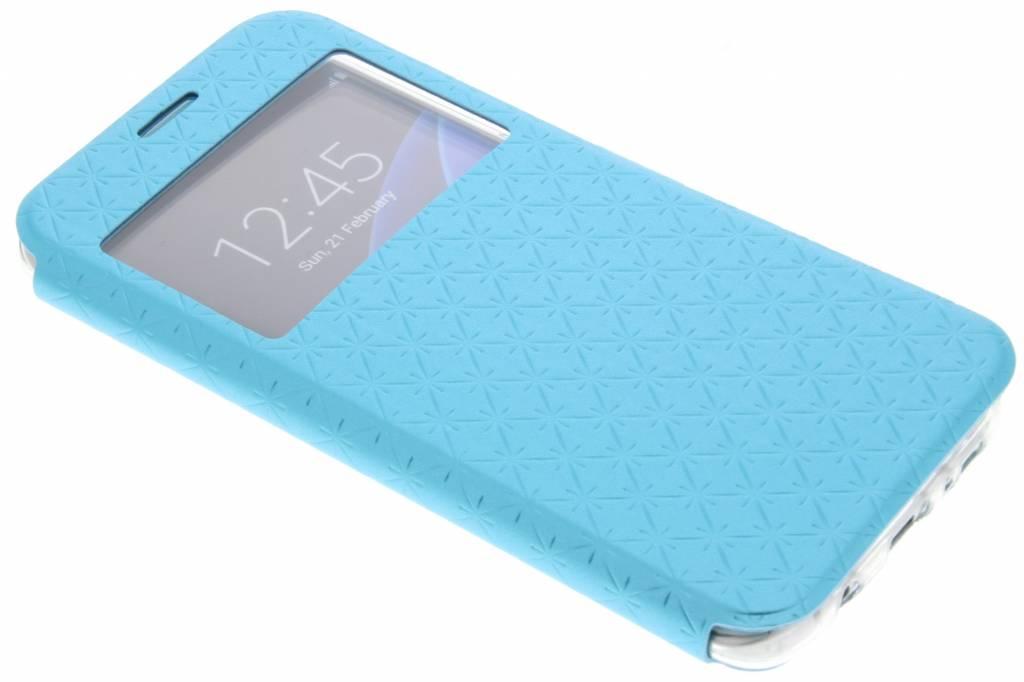 Blauw Rhombus hoesje voor de Samsung Galaxy S7 Edge