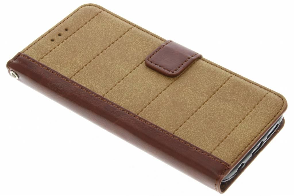 Bruine business TPU booktype hoes voor de Samsung Galaxy S7 Edge