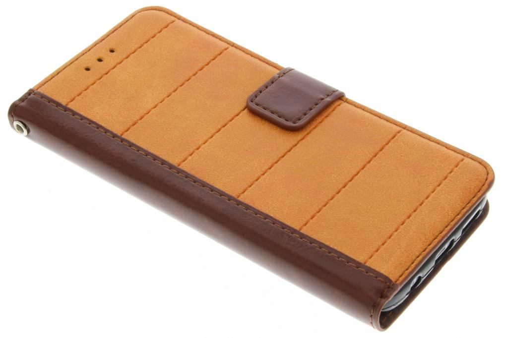 Oranje business TPU booktype hoes voor de Samsung Galaxy S7 Edge