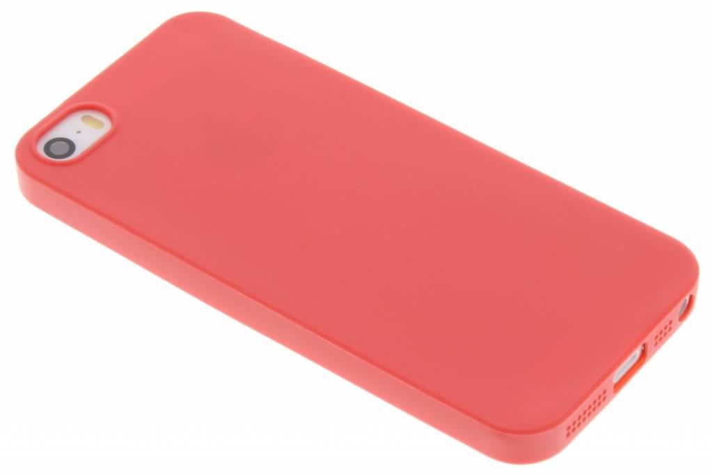 Rood Color TPU hoesje voor de iPhone 5 / 5s / SE