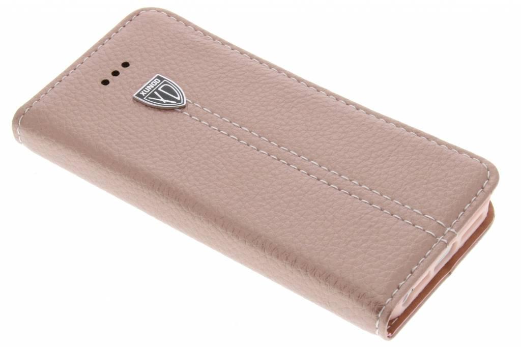 Roze premium TPU booktype hoes voor de iPhone 5 / 5s / SE