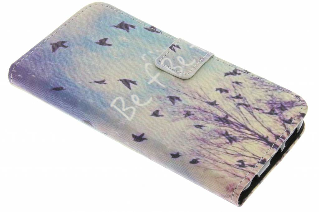 Be free design TPU booktype hoes voor de Samsung Galaxy S6 Edge