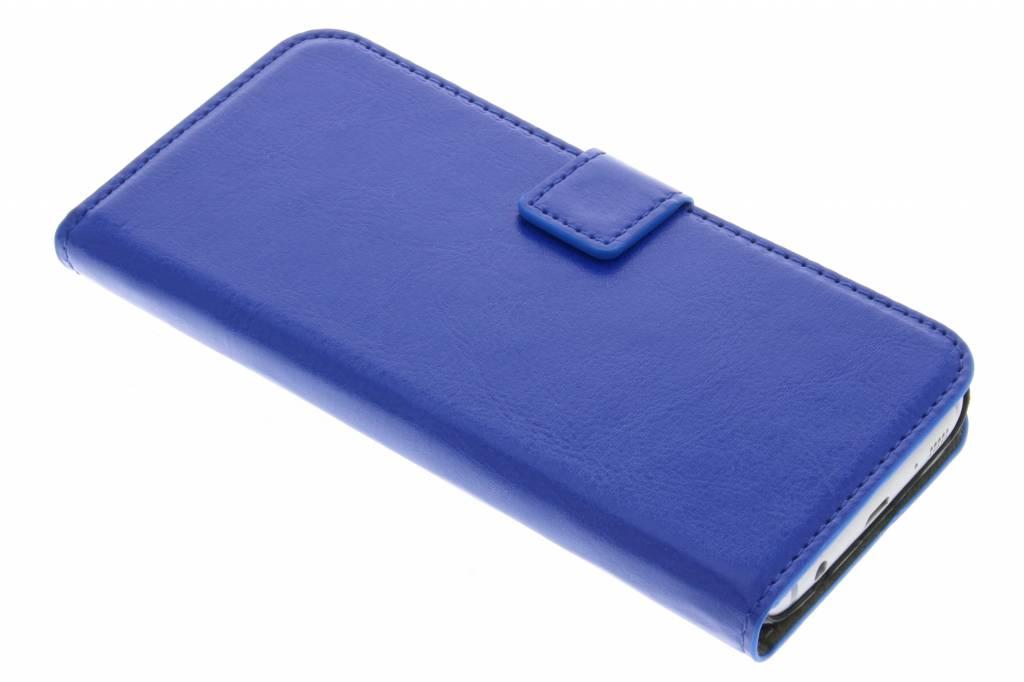 Blauwe stijlvolle bookcase voor de Samsung Galaxy S7