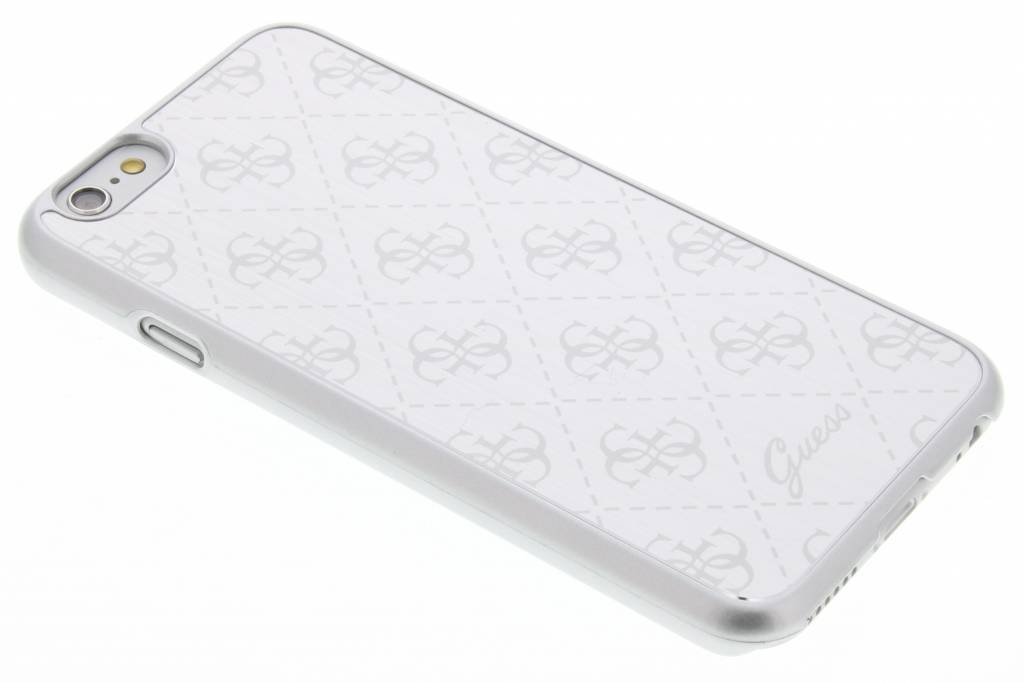 Guess Aluminium Plate Hard Case voor de iPhone 6 / 6s - Silver