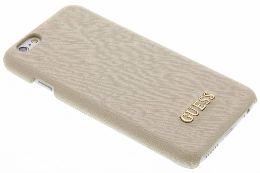 Guess Saffiano Collection Hard Case voor de iPhone 6 / 6s - Beige