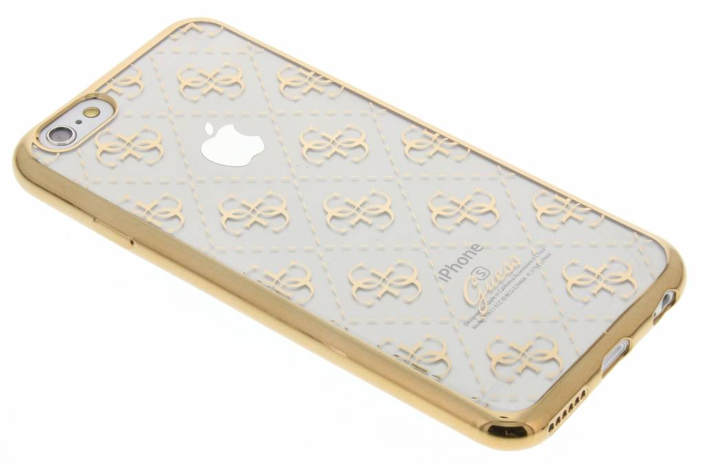 Guess M137138 TPU Case 4G Transparant-Goud Voor Apple IPhone 6-6S