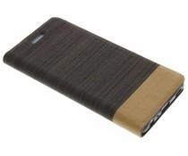 Grijs denim TPU booktype hoes Huawei P9