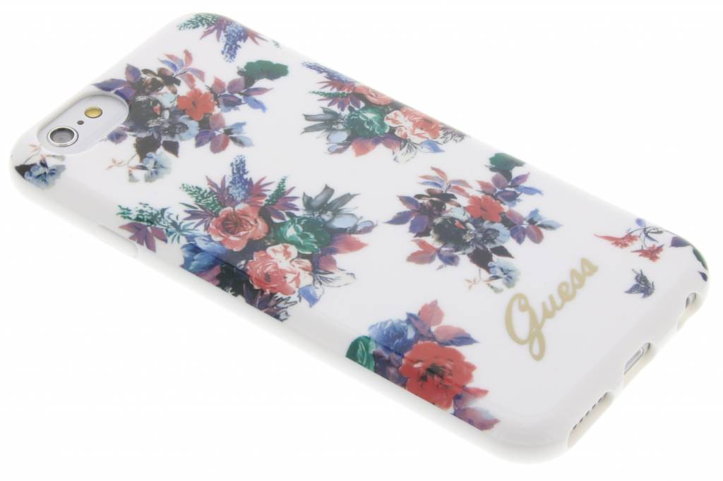 Guess Blossom TPU Case voor de iPhone 6 / 6s - Wit