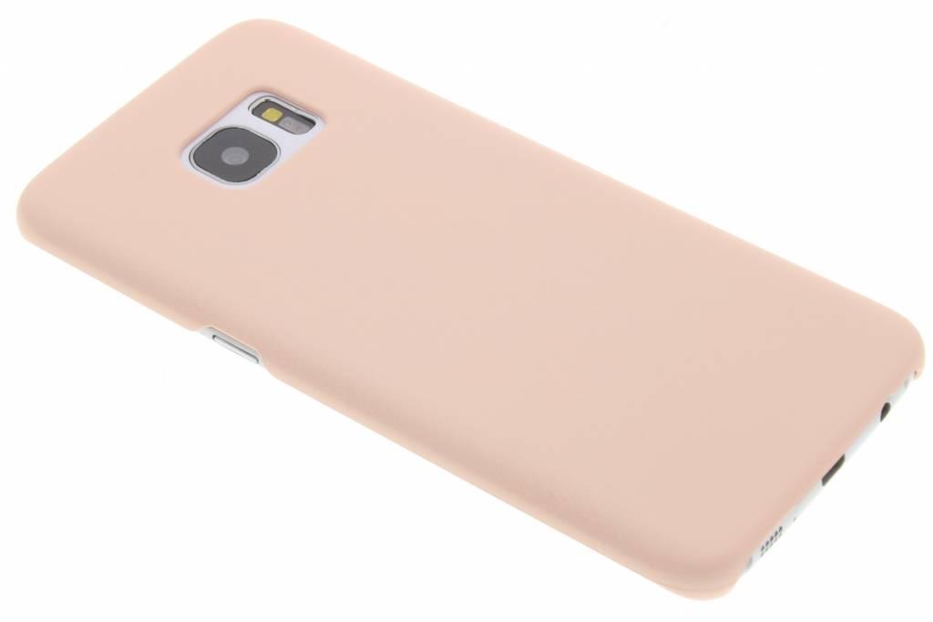 Poederroze pastel hardcase hoesje voor de Samsung Galaxy S7 Edge