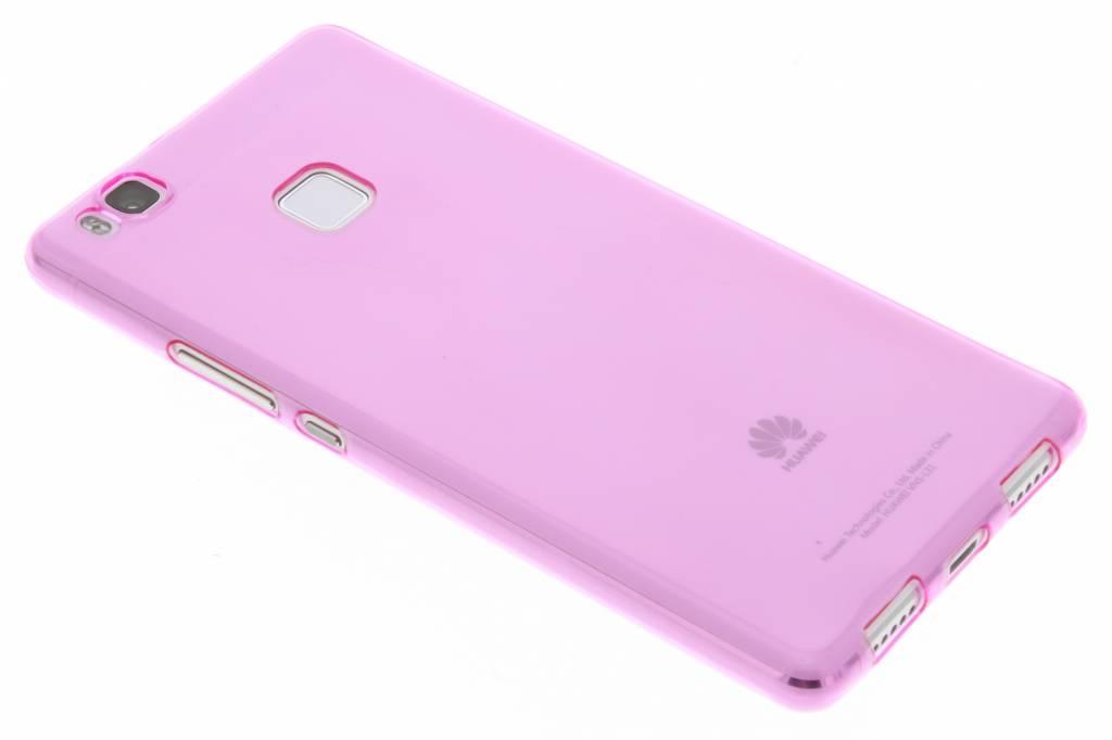 Roze ultra thin transparant TPU hoesje voor de Huawei P9 Lite