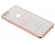 Guess Signature Heart TPU Case iPhone 6 / 6s - Roze