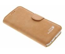 Oranje luxe suède booktype hoes Samsung Galaxy S7 Edge
