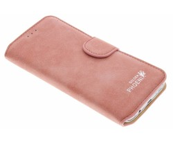 Roze luxe suède booktype hoes Samsung Galaxy S7 Edge