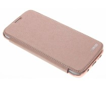 Roze crystal slim book case Samsung Galaxy S7 Edge