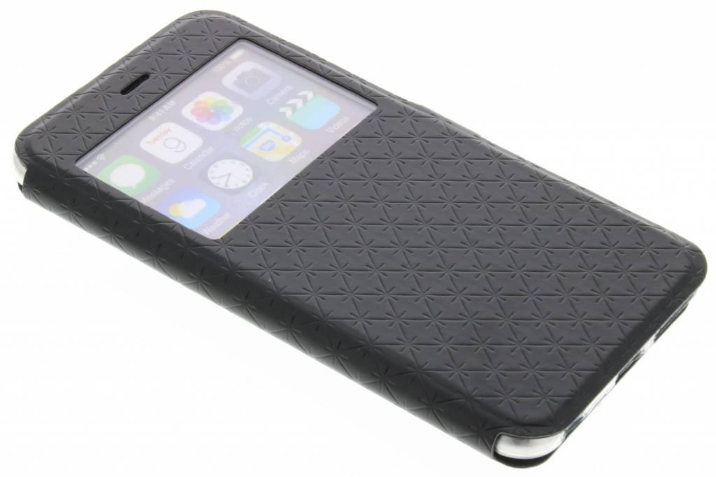 Zwart Rhombus hoesje voor de iPhone 6(s) Plus