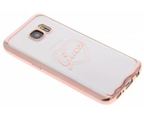 Guess Signature Heart TPU Case Galaxy S7 - Rosé goud