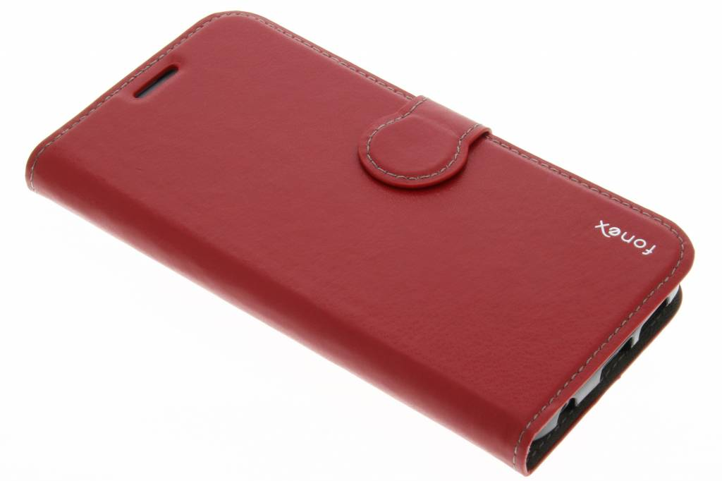 Fonex Identity Bookcase voor de Samsung Galaxy S6 Edge - Roze