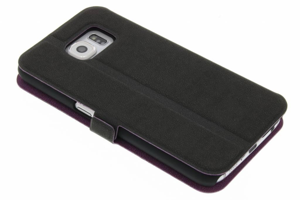 Fonex Elegance Book Case voor de Samsung Galaxy S6 - Paars/grijs