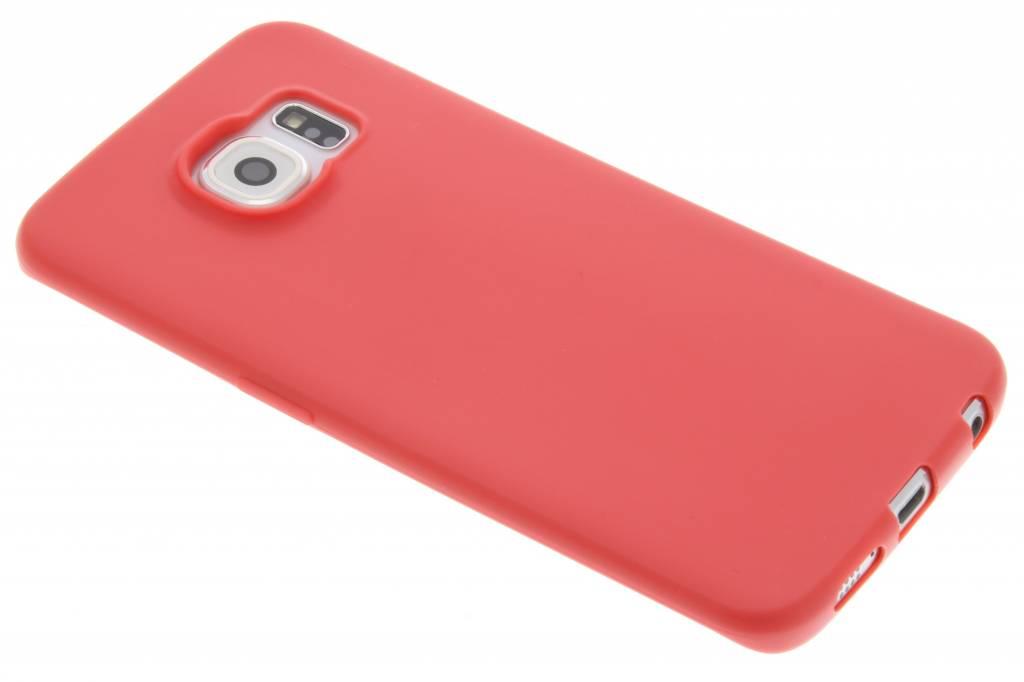 Rood Color TPU hoesje voor de Samsung Galaxy S6 Edge