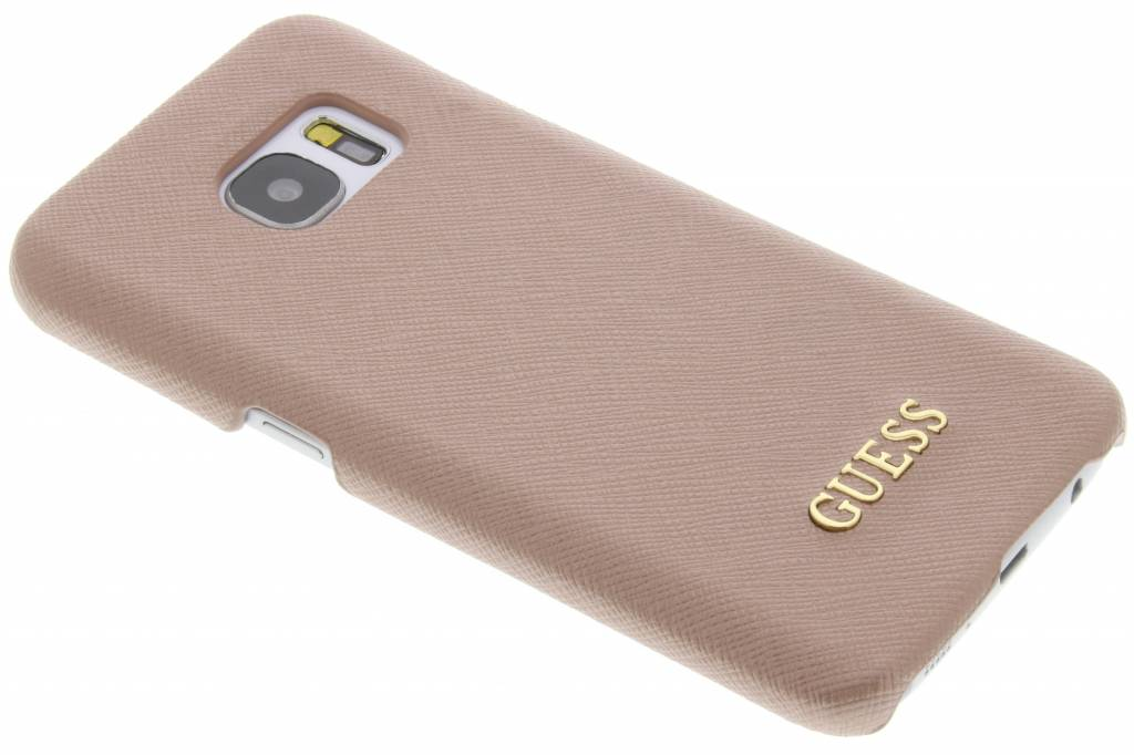 Guess Saffiano Collection Hard Case voor de Samsung Galaxy S7 - Rosé