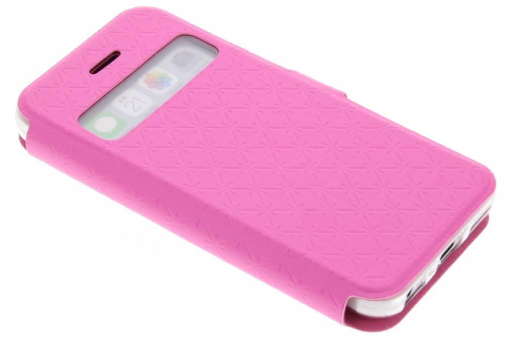Roze Rhombus hoesje voor de iPhone 5c
