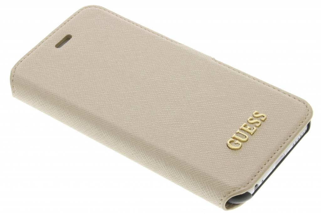 Guess Saffiano Collection Book Case voor de iPhone 6 / 6s - Beige