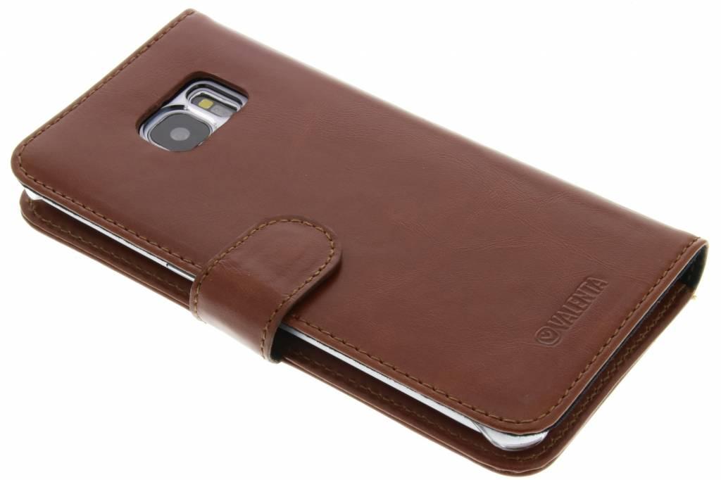 Valenta Bruine Booklet Classic Luxe voor de Samsung Galaxy S7 Edge