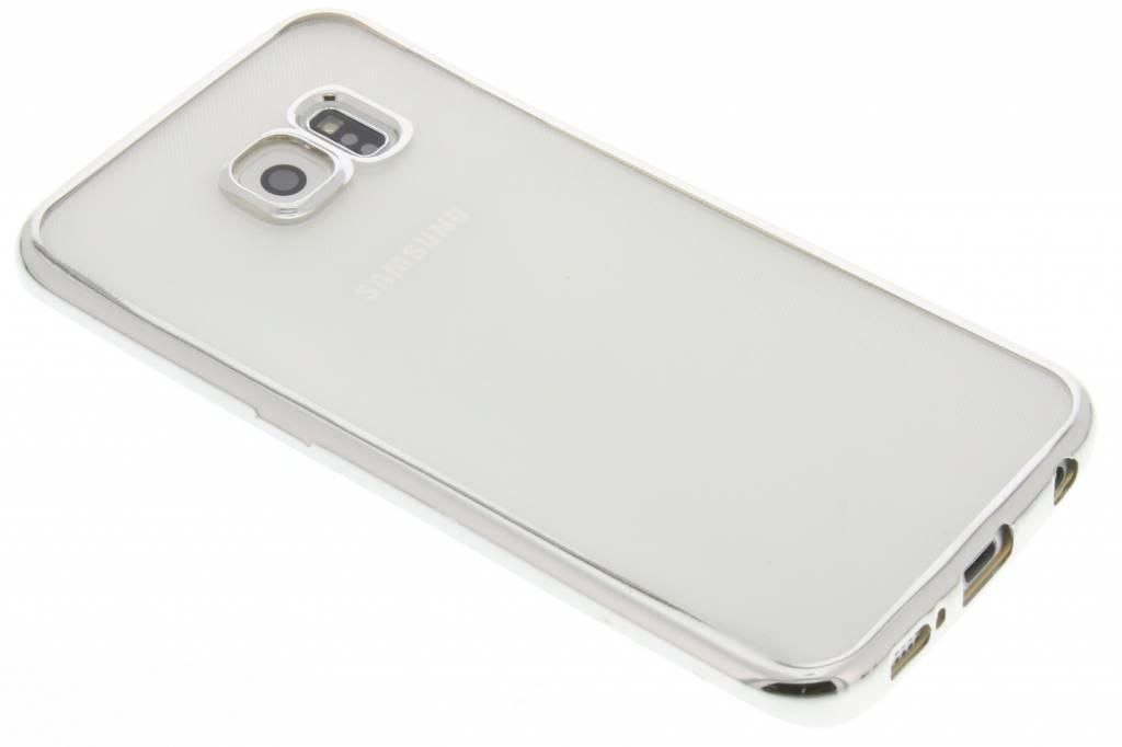 Fonex Sparkling Soft Case voor de Samsung Galaxy S6 Edge - Zilver