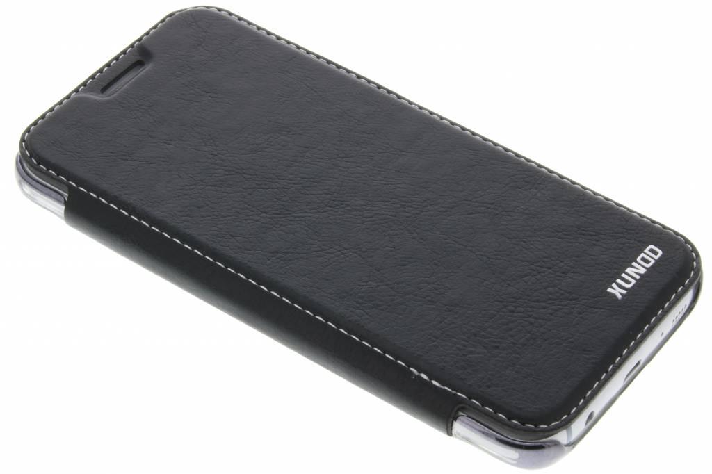 Zwarte crystal slim book case voor de Samsung Galaxy J5